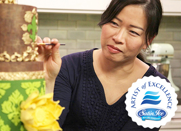 Violet Lin Tran of The Violet Cake Shop in Canada is the May Satin Ice Featured Artist of Excellence!