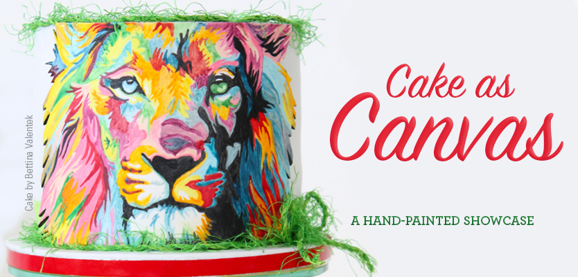 Hand painted cakes showcase