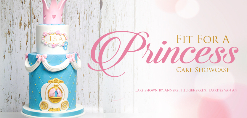 Fit For A Princess Showcase featuring cake by Anneke Hillgehekken of Taartjes vanan