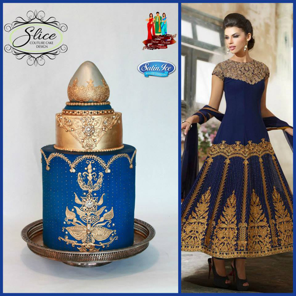 Elegant Indian Fashion Cake Collaboration | Satin Ice