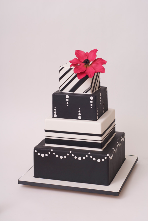 black and white square wedding cake with red roses black amp white square wedding cake satin 11841